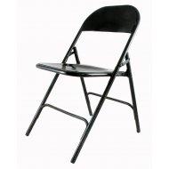 zwartgelakte metalen stoel uit Indië